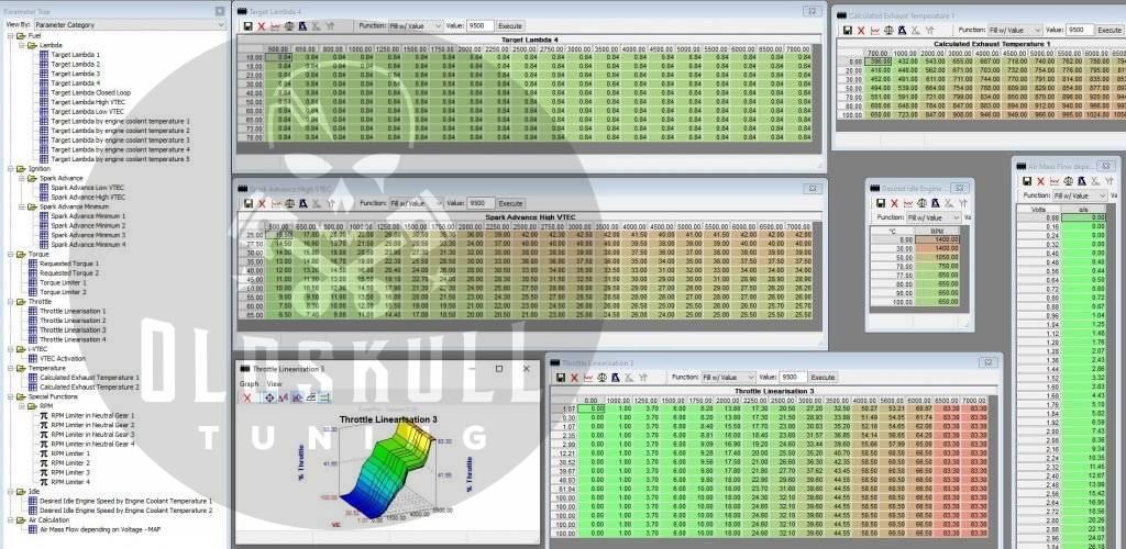 honda 1.3 tuning ecu keihin remap using tunerpro