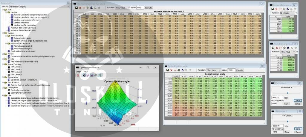 polaris atv remap bosch m17.8.7 using tunerpro